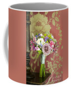 Wedding Bouquet And Vintage Wallpaper Coffee Mug