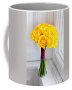 Wedding Bouquet Of Yellow Roses Coffee Mug
