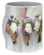 Wedding Bouquets Held By Bridesmaids Coffee Mug