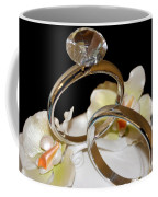 Wedding Cake Rings Black Coffee Mug