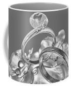 Wedding Ring Cake Gray Coffee Mug