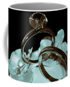 Wedding Ring Cake Topper Cyan Coffee Mug
