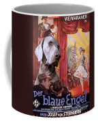 Weimaraner Art Canvas Print - Der Blaue Engel Movie Poster Coffee Mug