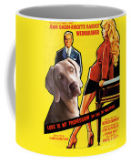 Weimaraner Art Canvas Print - Love Is My Profession Movie Poster Coffee Mug