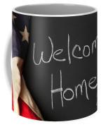 Welcome Home Sign On Chalkbaord Coffee Mug