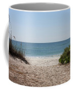 Welcome To The Beach Coffee Mug by Carol Groenen