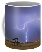 Weld County Dacona Oil Fields Lightning Thunderstorm Coffee Mug