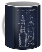 Well Drilling Apparatus Patent From 1960 - Navy Blue Coffee Mug