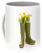 Wellington Boots Coffee Mug by Amanda Elwell