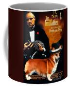 Welsh Corgi Pembroke Art Canvas Print - The Godfather Movie Poster Coffee Mug