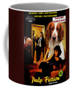 Welsh Springer Spaniel Art Canvas Print - Pulp Fiction Movie Poster Coffee Mug