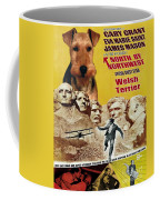 Welsh Terrier Art Canvas Print - North By Northwest Movie Poster Coffee Mug