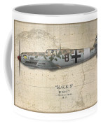 Werner Schroer Messerschmitt Bf-109 - Map Background Coffee Mug