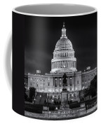 West Front Of The National Capitol Bw Coffee Mug