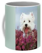 West Highland Terrier Dog In Heather Coffee Mug