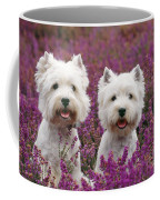 West Highland Terrier Dogs In Heather Coffee Mug