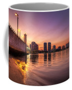 West Palm Beach Skyline At Dusk Coffee Mug