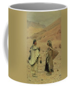 West Tibetans, 1875 Oil On Canvas Coffee Mug