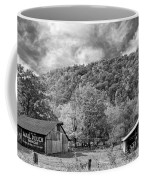 West Virginia Barns Monochrome Coffee Mug