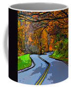 West Virginia Curves 2 Line Art Coffee Mug