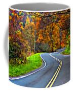 West Virginia Curves Painted Coffee Mug