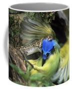 Western Diamondback Rattlesnake Striking Green Jay Coffee Mug