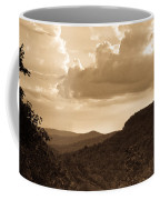 Western Mountain Scene In Sepia Coffee Mug