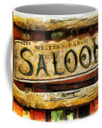 Western Saloon Sign - Drawing Coffee Mug