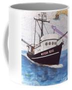 Western Seas Trawl Fishing Boat Nautical Chart Art Coffee Mug