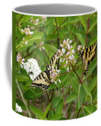 Western Tiger Swallowtail Butterflies Coffee Mug