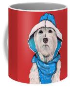 Westie In A Blue Slicker Coffee Mug