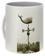 Whale Weathervane In Sepia Coffee Mug