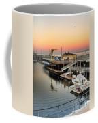 Wharf #2 In Monterey At Sunset Coffee Mug
