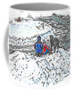 What Fascinates Children And Dogs -  Snow Day - Winter Coffee Mug