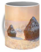 Wheat Stacks - Snow Effect Morning Coffee Mug