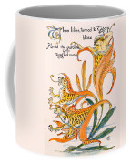 When Lilies Turned To Tiger Blaze Coffee Mug by Walter Crane