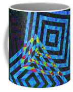 When Squares Merge Blue Coffee Mug