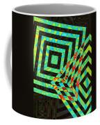 When Squares  Merge Green Coffee Mug