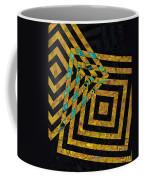 When Squares Merge Yellow Coffee Mug
