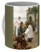 When The Boats Are Away Coffee Mug by Walter Langley