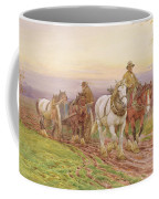 When The Days Work Is Done Coffee Mug by Charles James Adams