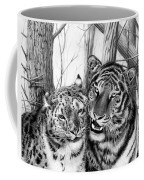 When Two Hearts Collide Coffee Mug by Peter Piatt