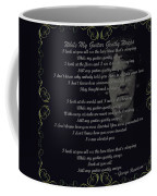 While My Guitar Gently Weeps Golden Scroll Coffee Mug