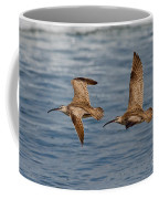 Whimbrels Flying Close Coffee Mug