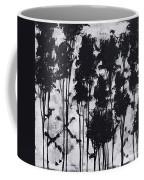 Whimsical Black And White Landscape Original Painting Decorative Contemporary Art By Madart Studios Coffee Mug