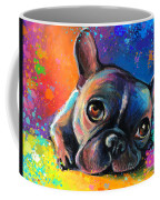 Whimsical Colorful French Bulldog  Coffee Mug by Svetlana Novikova