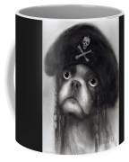 Whimsical Funny French Bulldog Pirate  Coffee Mug