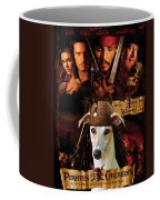 Whippet Art - Pirates Of The Caribbean The Curse Of The Black Pearl Movie Poster Coffee Mug