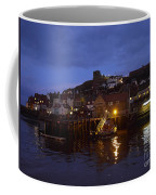 Whitby Lower Harbour And The Rnli Lifeboat Station At Night Coffee Mug