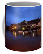 Whitby Lower Harbour At Night Coffee Mug